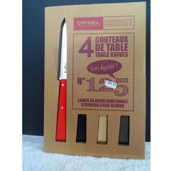Coffret 4 couteaux OPINEL N125 11cm