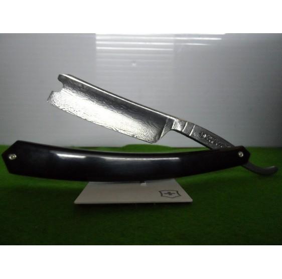 Rasoir Thiers-Issard acier Damas corne noire