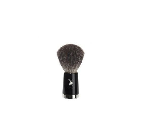 Brosse de rasage MÜHLE pur blaireau polyester noir
