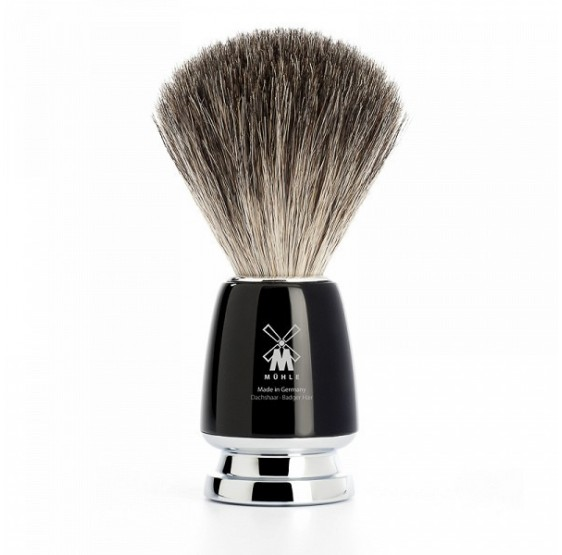 Blaireau MÜHLE pur gris bois acrylique noir