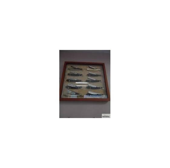 Coffret vernis en hêtre pour 7 rasoirs