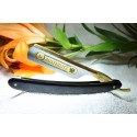 "Gustave Lalune 6/8 straight razor ""Gustave Moon Man"" black horn"