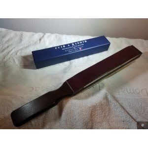 Gustave Lalune straight razor paddle stropp horsehide