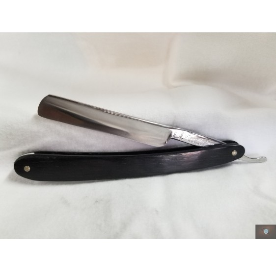 "Friseurzeug Rasiermesser Klingenbreite 3/8 Zoll  ""L'Ami du coiffeur"" Olivenholz Schalen"